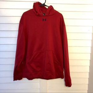 Mens Red Dry Fit Hoodie
